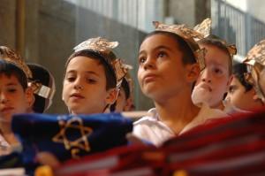 Cerimonia ebraica in cui si da ai bambini il primo capitolo del Talmud.