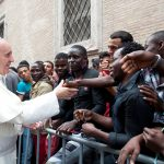 Papa Francesco al Centro Astalli