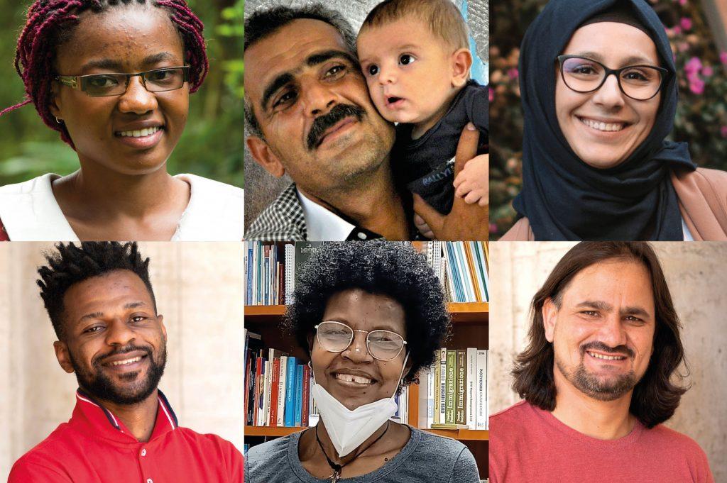 Nel collage foto di Jesuit Refugee Service, Haizea Mariti, Asmae Dachan.